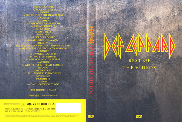 Видео концерт Def Leppard ‎- Best Of The Videos DVD (2004) Скачать или Смотреть Онлайн  (Download video Def Leppard ‎- Best Of The Videos DVD 2004)