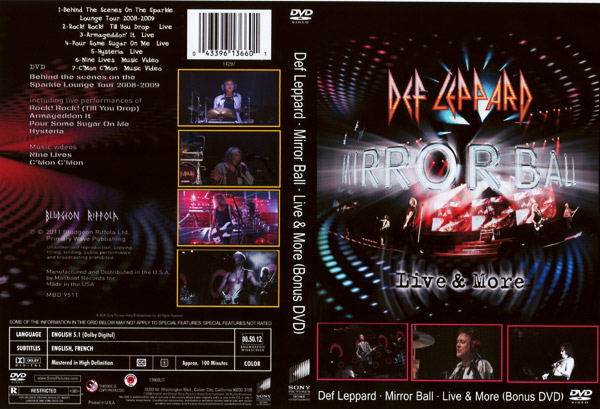 Видео концерт Def Leppard - Mirror Ball - Live More (Bonus DVD) (2011) Скачать или Смотреть Онлайн  (Download video Def Leppard - Mirror Ball - Live  More (Bonus DVD) 2011)
