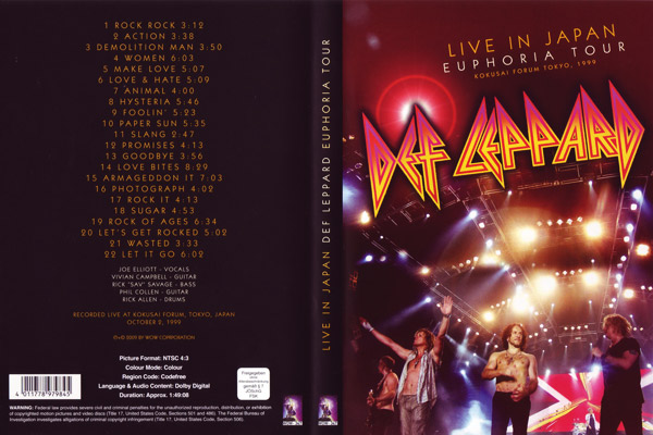 photo-Def-Leppard-live-Euphoria-tour-in-japan-1999-vhs-dvd