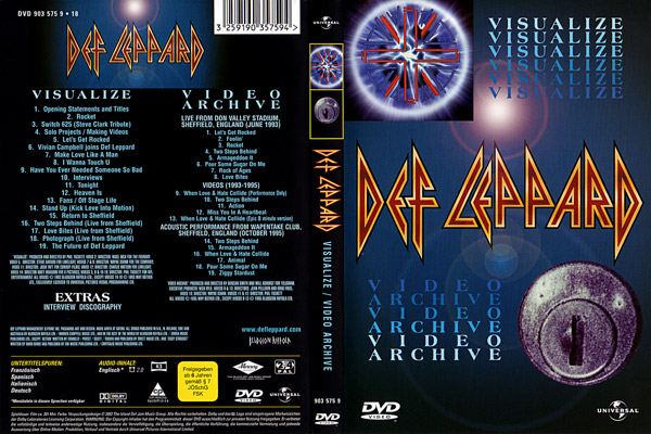 Видео концерт Def Leppard - Visualize & Video Archive DVD (2002) Скачать или Смотреть Онлайн  (Download video Def Leppard - Visualize & Video Archive DVD 2002)