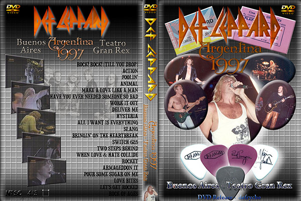Видео концерт Def Leppard ‎- Teatro Gran Rex, Buenos Aires Argentina DVD (1997) Скачать или Смотреть Онлайн  (Download video Def Leppard ‎- Teatro Gran Rex, Buenos Aires Argentina DVD 1997)